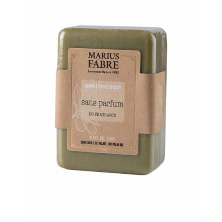 Savonnette à l'huile d'olive non parfumée, sans huile de palme