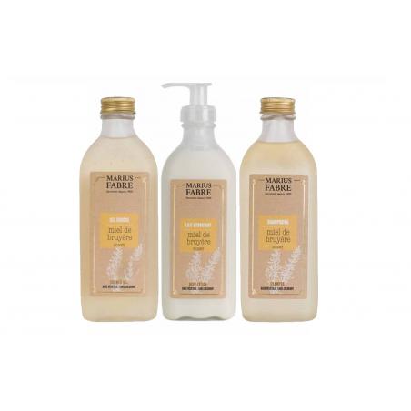 Coffret découverte Soin du corps Miel de Bruyère - Gel douche + Shampoing + Lait hydratant