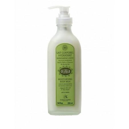 Lait corporel hydratant parfum Mandarine verte à l'huile d'olive, certifié BIO - 230 ml