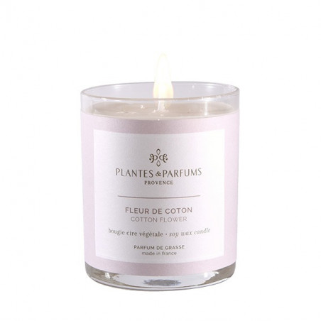 Bougie Végétale Parfumée Fleur de Coton - 180gr (copie)
