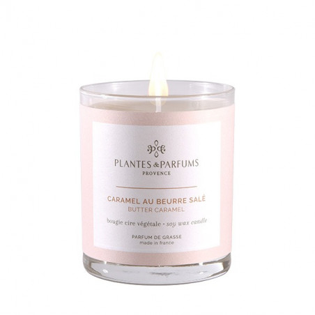 Bougie Végétale Parfumée Caramel au Beurre Salé- 180gr