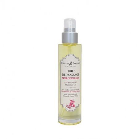Huile de Massage Aphrodisiaque à l'huile essentielle de Gingembre et de Ylang-Ylang - 100ml
