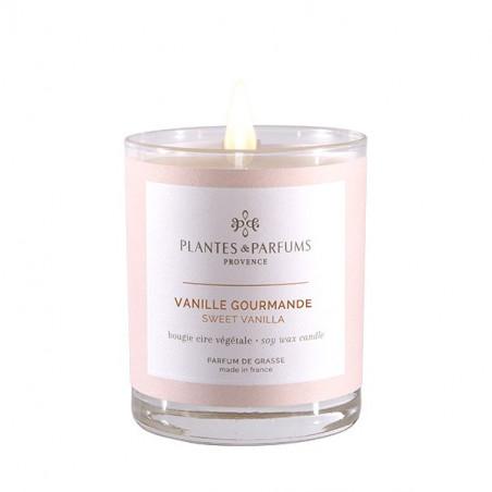 Bougie Végétale Parfumée Vanille gourmande - 180gr