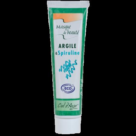 Masque beauté visage argile et spiruline - Label ECO - 100ml