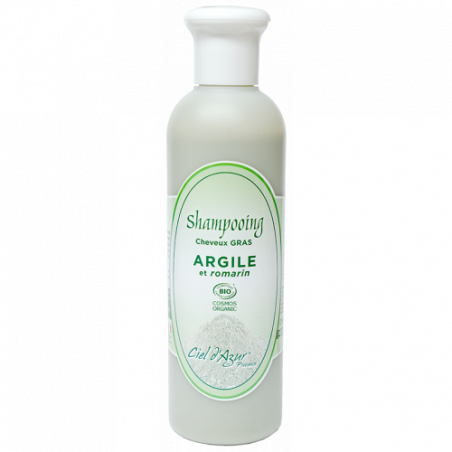Shampooing Argile cheveux gras BIO - Cosmos - 250ml