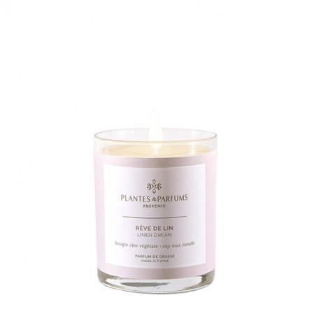 Bougie Végétale Parfumée Rêve de lin - 75gr