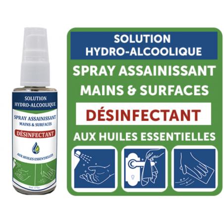 SOLUTION HYDRO-ALCOOLIQUE AUX HUILES ESSENTIELLES – Spray 50 ml
