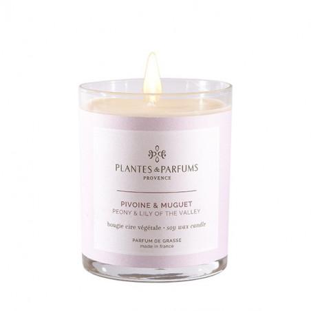 Bougie Végétale Parfumée Pivoine & Muguet - 180gr
