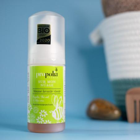 Mousse lavante visage BIO - Propolis, Thé vert & Aloé vera - 100 ml - Propolia