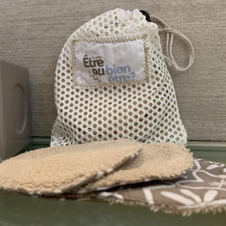 Pochette de 10 lingettes nettoyantes - Cotons Réutilisables