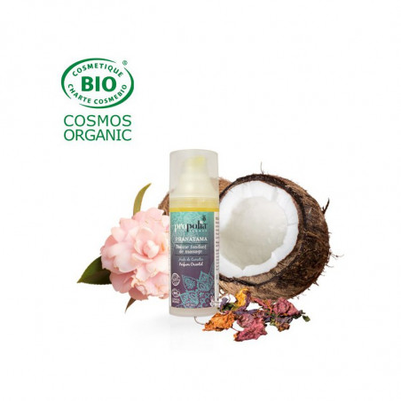 Baume fondant de massage Bio - Parfum oriental - Pranayama - 50ml - Propolia