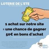 🙌🏻 Yeah ! Tentes de gagner 50€ en bons d'achat sur mon site internet pendant la loterie de l'été !  🍀 Du 7 au 27 juin, lorsque tu effectues un achat sur mon site internet, tu participes automatiquement à la loterie de l'été. En jeu ? Deux bons d'achat de 50€ à dépenser sur mon site.  L'occasion de découvrir mes nouveautés et de se faire plaisir avec de la #cosmetique #bio et #francaise. Prêt(e) ? Y'a plus qu'à : https://www.etreoubienetre.fr 🚨 Partages l'info en taguant un(e) ami(e) !  Tirage au sort le 30 juin 2021. Jeu avec obligation d'achat.  #jeu #loto #cadeau #chance #madeinfrance #mif #vegan #etreoubienetre #gain #concoursinstagram